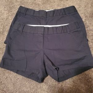 J crew broken in chino shorts navy